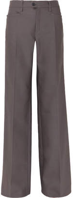 Chloé Wool-blend Wide-leg Pants - Gray