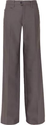 Chloé Wool-blend Wide-leg Pants - Gray