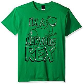 Disney Men's Toy Story Nervous Rex Graphic T-Shirt