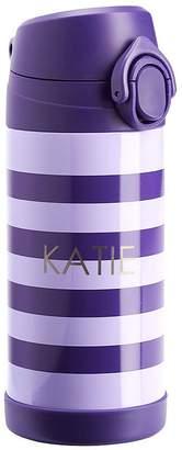 Pottery Barn Kids Medium Insulated Water Bottle, Fairfax Purple Rugby Stripe, Purple Trim
