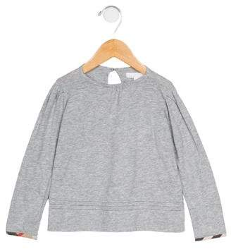 Burberry Girls' Long Sleeve Knit T-Shirt w/ Tags
