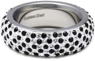 Schmuck-art Women's Ring Stainless Steel silver jet 45 88133