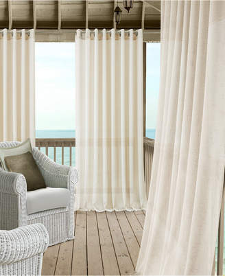 "Elrene Carmen Sheer 114"" x 95"" Extra-Wide Indoor/Outdoor Grommet Curtain Panel with Tieback"