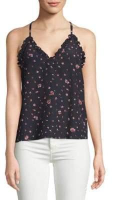Rebecca Taylor Mia Floral-Print Silk Camisole