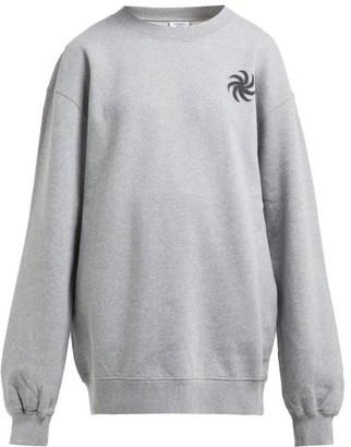 Vetements Fist Print Cotton Sweatshirt - Womens - Grey