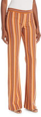 Derek Lam Blanket Striped Flare Trousers