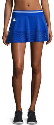 adidas by Stella McCartney Perforated-Trim Tennis Skirt, Blue/White $65 thestylecure.com
