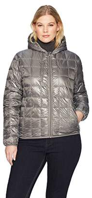 The Plus Project Women's Plus Size Quilted Puffer Jacket with Hood 4X-Large