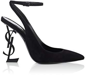 Women's Opyum Suede Ankle-Wrap Pumps