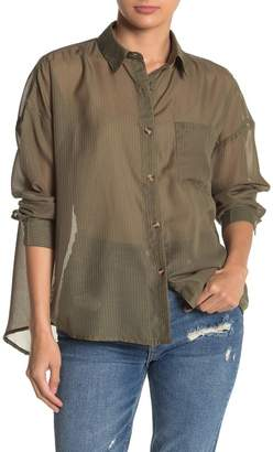 Emory Park Striped Button Down Top