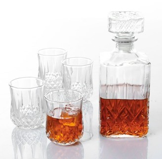 Gibson Home Jewelite Glass Decanter Set 5 pc Set