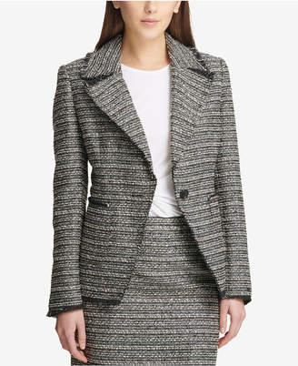 DKNY One-Button Tweed Blazer, Created for Macy's