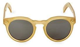 Illesteva Men's 50MM Leonard II Blond Round Sunglasses