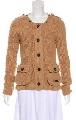 Burberry Oversize Textured Cardigan