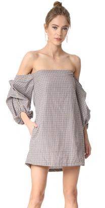 MLM LABEL Pillar Shoulder Mini Dress $187 thestylecure.com