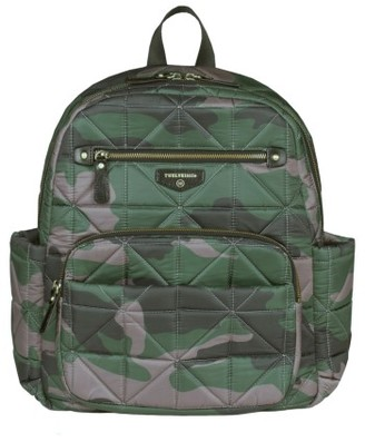 Infant Twelvelittle Companion Quilted Nylon Diaper Backpack - Green $189 thestylecure.com