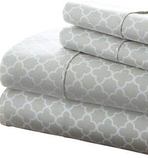 Blissful Bedding Premium Ultra Soft Quadrafoil Four-Piece Bed Sheet Set
