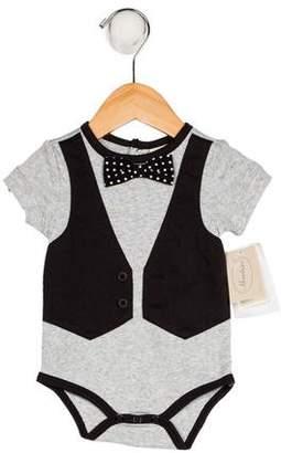 Miniclasix Boys' Tuxedo Short Sleeve All-In-One w/ Tags