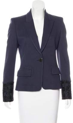 Emilio Pucci Lace-Embellished Structured Blazer