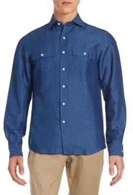 Ralph Lauren Purple Label Aston Classic Fit Solid Button-Down Shirt
