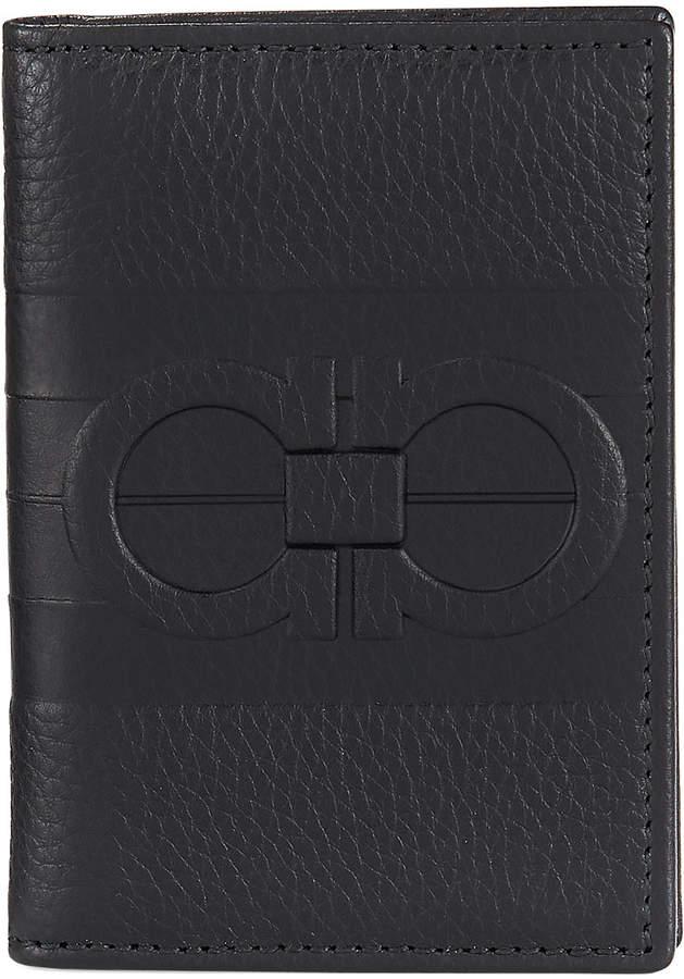 Salvatore Ferragamo Pebbled Leather Bi-Fold Wallet