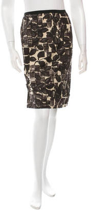 Vera Wang Printed Pencil Skirt $65 thestylecure.com