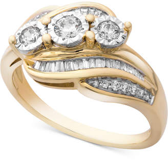 Wrapped in Love Diamond Three-Stone Ring (1/2 ct. t.w.) in 14k Gold