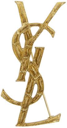 Saint Laurent Gold Crocodile Opyum Brooch