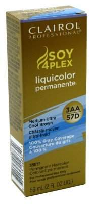 Clairol Liquicolor Permanent 3Aa/57D Medium Ultra Cool Brown 2 Ounce (59ml) (6 Pack)