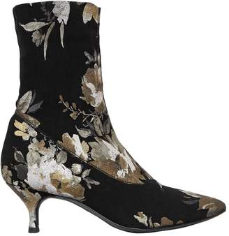 Strategia 60mm Floral Print Stretch Sock Boots