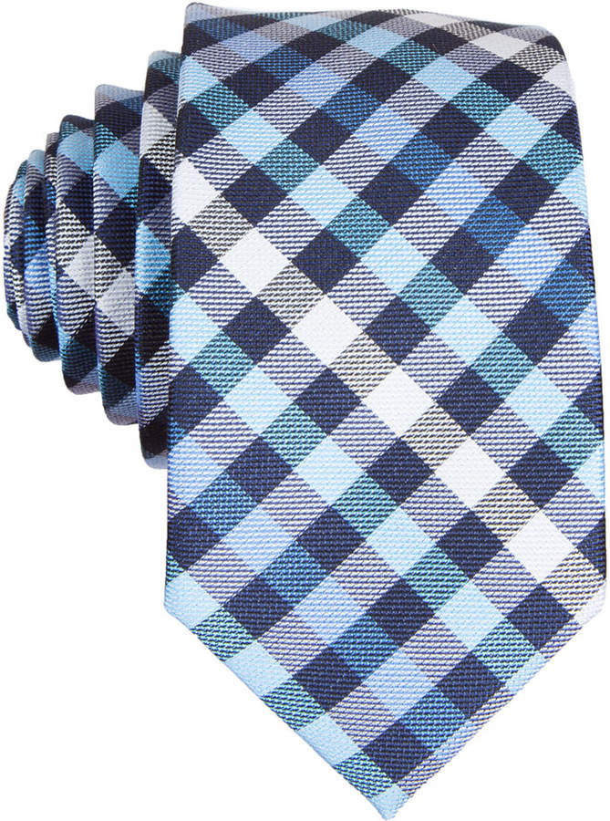 Original Penguin Odo Plaid Skinny Tie