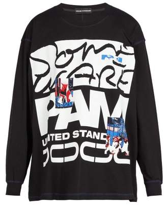 United Standard - X P.a.m. X Some Ware Long Sleeved Cotton T Shirt - Mens - Black