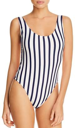 Milly Deep Side Scoop One Piece Swimsuit
