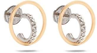 Charlotte Chesnais Fine Jewellery - Saturn Extra Small Diamond & Gold Earrings - Womens - Gold
