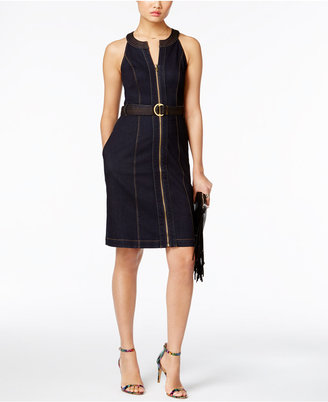 INC International Concepts Belted Denim Sheath Dress, Only at Macy's $99.50 thestylecure.com