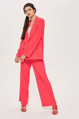 Topshop Womens Slouch Suit Trousers - Coral