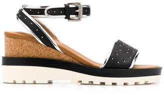 See by Chloe studded wedge sandals