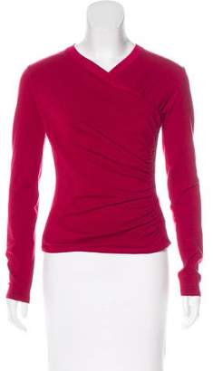 Alaia Virgin Wool Ruched Top