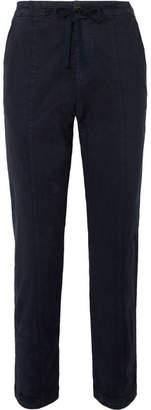 Alex Mill Stretch-tencel And Cotton-blend Twill Slim-leg Pants - Navy