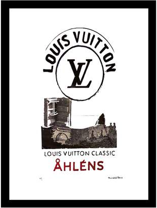 Fashion Flash Ahlens Vintage Louis Vuitton ad by Fairchild Paris (Framed)