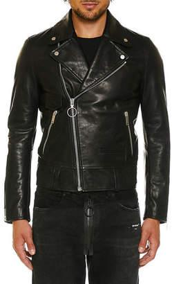 Off-White Men's Leather Biker Jacket