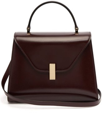 Valextra Iside Medium Leather Bag - Womens - Burgundy