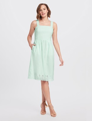 Draper James Embroidered Gingham Dress