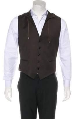 Christian Dior Hooded Virgin Wool & Cashmere-Blend Suit Vest