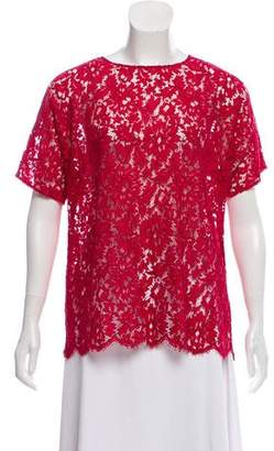 Dolce & Gabbana Lace Short Sleeve Top