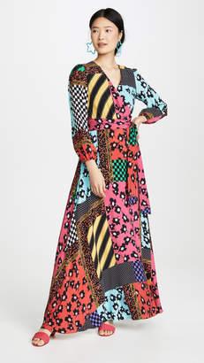 Alice + Olivia Coco Mock Wrap Maxi Dress