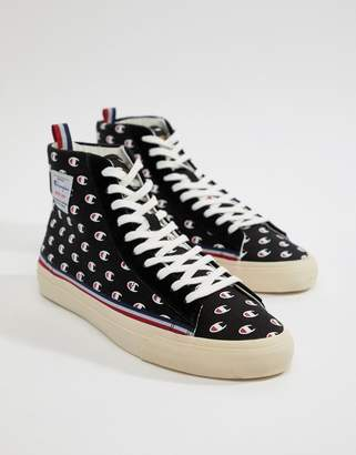 Champion Mercury Mid Sneakers With Logo Print In Black