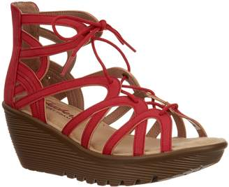 975dad63f0f Red Lace Wedge Sandal - ShopStyle