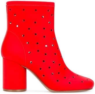 Maison Margiela Socks perforated ankle boots