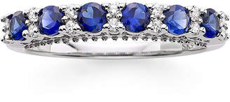 MODERN BRIDE I Said Yes 1/7 CT. T.W. Diamond and Lab-Created Blue Sapphire 9mm Wedding Band